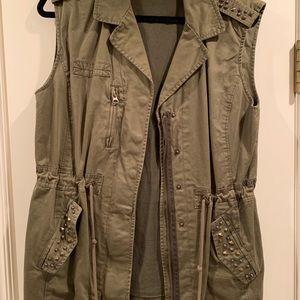 Forever 21 Army Studded Vest